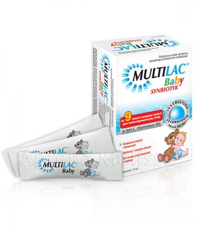 MULTILAC BABY Synbiotyk (Probiotyk + Prebiotyk) – 10 sasz. - Apteka internetowa Melissa