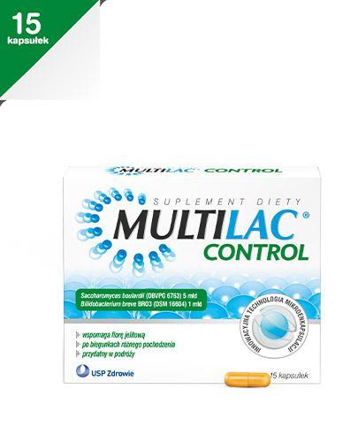 MULTILAC CONTROL - 15 kaps. - wsparcie dla mikroflory jelitowej - cena, dawkowanie