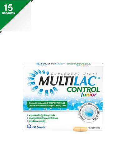 MULTILAC CONTROL JUNIOR - 15 kaps. - cena, dawkowanie