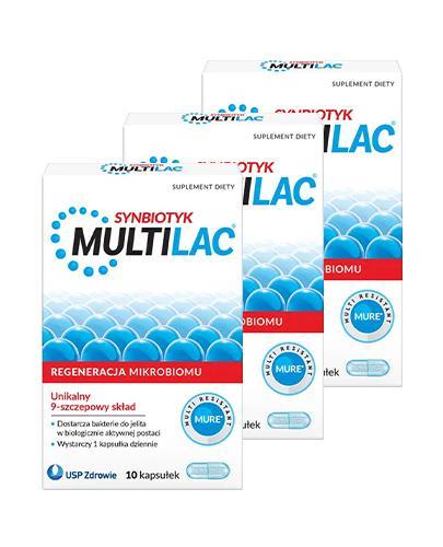 MULTILAC Synbiotyk (Probiotyk + Prebiotyk) – 3 x 10 kaps.