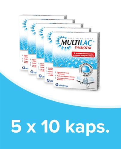 MULTILAC Synbiotyk (Probiotyk + Prebiotyk) – 5 x 10 kaps.