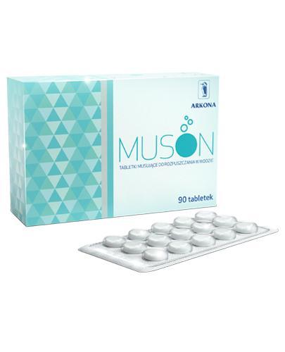 Muson Płyn do płukania w tabletkach musujące o działaniu odkarzającym  - 90 tabl. - cena, opinie, wskazania  - Drogeria Melissa