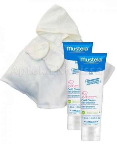 MUSTELA BEBE COLD CREAM Krem ochronny przed wiatrem, chłodem, słońcem - 2 x 40 ml + Ponczo i buciki dla dziecka GRATIS !