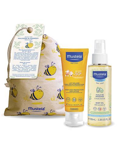 Mustela Bebe-Enfant Mleczko przeciwsłoneczne SPF 50+ - 40 ml + Olejek do masażu dla niemowląt - 100 ml - cena, opinie, właściwości - Apteka internetowa Melissa