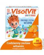 VISOLVIT JUNIOR Smak pomarańczowy - 30 sasz.