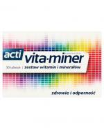 VITA-MINER Komplet niezbędnych witamin i minerałów - 30 tabl.  - Apteka internetowa Melissa