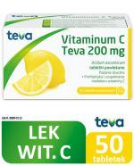 VITAMINUM C TEVA 200 mg - 50 tabl.