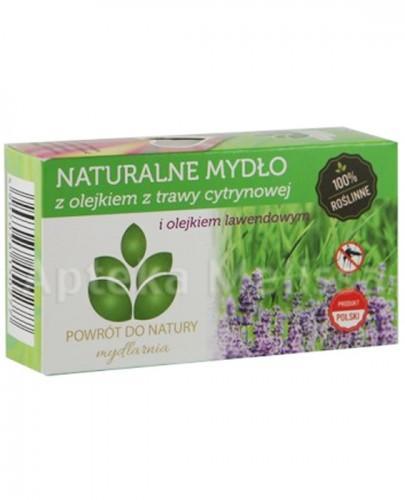 MYDLARNIA Naturalne mydło z olejkiem z trawy cytrynowej i olejkiem lawendowym - 100 g  - Apteka internetowa Melissa