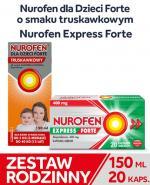 Zestaw Rodzinny (Nurofen dla dzieci Forte 150 ml + Nurofen Express Forte x 20 szt) - Apteka internetowa Melissa