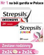 Zestaw rodzinny (Strepsils Intensive x 48tbl + Strepsils Junior x48tbl) - Apteka internetowa Melissa