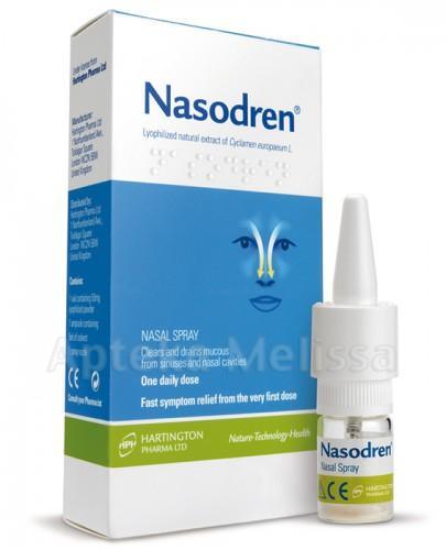 NASODREN Aerozol do nosa - 50 mg fiofilizatu + 5 ml rozp. - Apteka internetowa Melissa