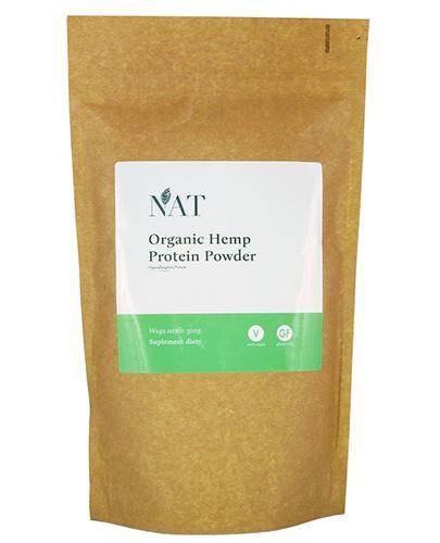 NAT Organic Hemp Protein Powder 40 % - 500 g - cena, opinie, stosowanie - Drogeria Melissa