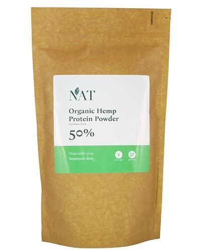 NAT Organic Hemp Protein Powder 50 % - 500 g - cena, opinie, wskazania - Apteka internetowa Melissa