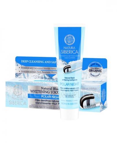 NATURA SIBERICA NOC POLARNA Naturalnie wybielająca, czarna pasta do zębów - 100 g - Apteka internetowa Melissa