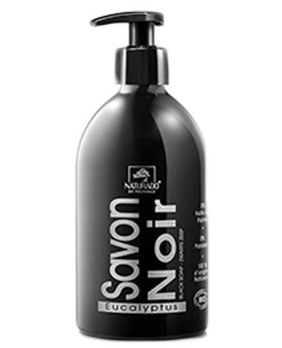 Naturado Czarne mydło w płynie Savon Noir z eukaliptusem - 500 ml - cena, opinie, stosowanie - Drogeria Melissa