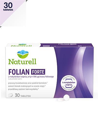 Naturell Folian Forte - 30 tabl. - kwas foliowy - cena, opinie, wskazania