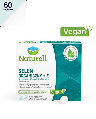 NATURELL Selen organiczny + E - 60 tabl.