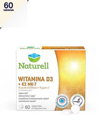NATURELL Witamina D3 + K2 MK-7 - 60 tabl. do ssania