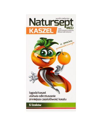 NATURSEPT MED KASZEL Lizaki o smaku pomarańczowym -  6 szt. - Apteka internetowa Melissa