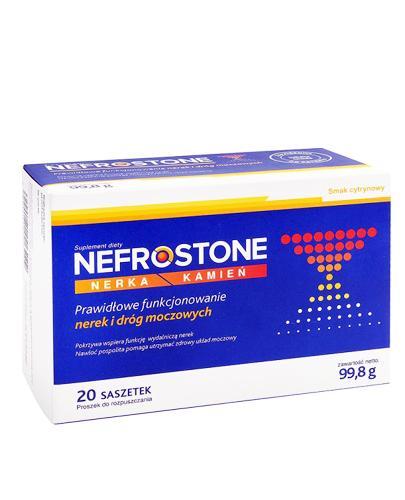 NEFROSTONE Smak cytrynowy - 20 sasz.  Data ważności: 2018.08.31 - Apteka internetowa Melissa