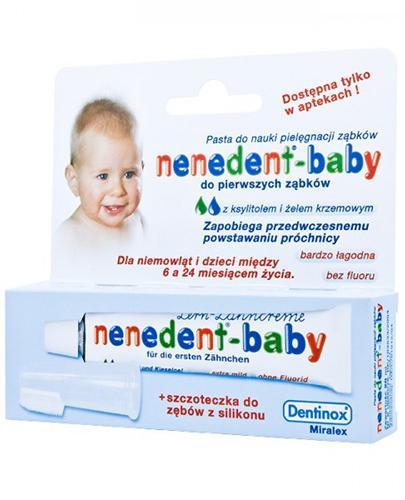 NENEDENT Baby - Pasta do zębów dla niemowląt - 20ml + silikonowa szczoteczka - Apteka internetowa Melissa