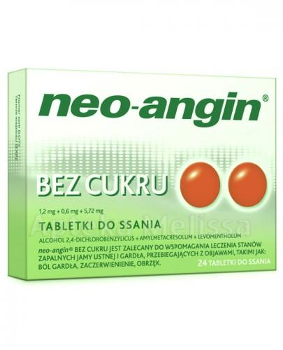 NEO-ANGIN BEZ CUKRU - 24 past. do ssania - Apteka internetowa Melissa