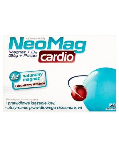 NEOMAG CARDIO Magnez+B6+Głóg+Potas - 50 tabl. - Apteka internetowa Melissa