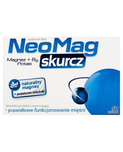 NEOMAG SKURCZ - 50 tabl. - prawidłowe funkcjonowanie mięśni - cena, opinie, wskazania - Drogeria Melissa