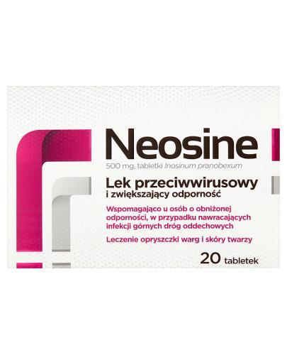 NEOSINE 500 mg - 20 tabl. Lek przeciwwirusowy - cena, opinie, ulotka