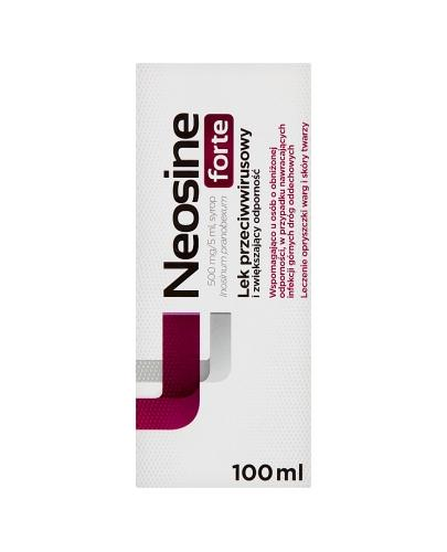 NEOSINE FORTE 500mg/5ml Syrop przeciwwirusowy - 100 ml  - Apteka internetowa Melissa