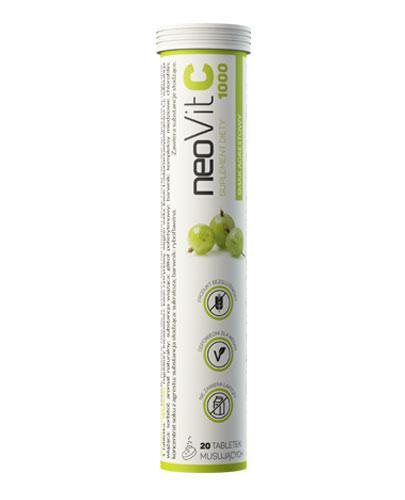 NeoVit C 1000 smak agrestowy - 20 tabl. mus. - cena, opinie, właściwości