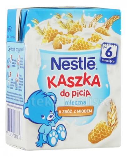 NESTLE Kaszka mleczna 8 zbóż z miodem do picia po 6 m-cu - 200 ml - Apteka internetowa Melissa