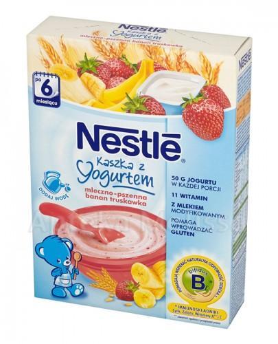 NESTLE Kaszka z jogurtem mleczno-pszenna banan truskawka po 6 m-cu - 250 g - Apteka internetowa Melissa