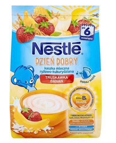 NESTLE DZIEŃ DOBRY Kaszka mleczna ryżowo-kukurydziana banan truskawka po 6 m-cu - 230 g - Apteka internetowa Melissa