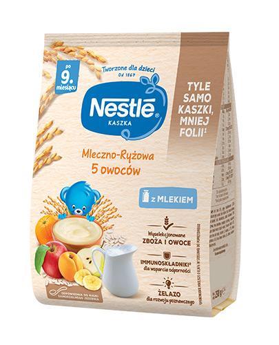 NESTLE Kaszka mleczno-ryżowa 5 owoców, po 9 miesiącu - 230 g  - Apteka internetowa Melissa