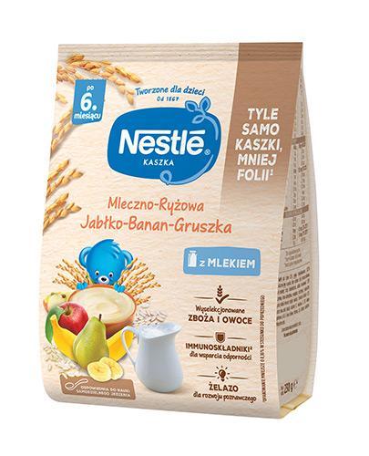 NESTLE Kaszka mleczno-ryżowa banan jabłko gruszka, po 6 miesiącu - 230 g - Apteka internetowa Melissa