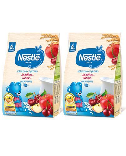 NESTLE Kaszka mleczno-ryżowa jabłko-wiśnia po 8 miesiącu - 2x230 g - Apteka internetowa Melissa