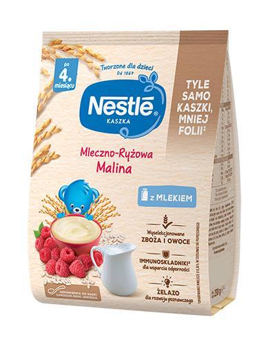 NESTLE Kaszka mleczno-ryżowa malina, po 4 miesiącu - 230 g  - Apteka internetowa Melissa