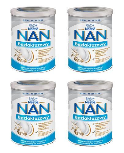 Nestle NAN EXPERT Bezlaktozowy mleko początkowe dla niemowląt od urodzenia - 4 x 400 g - cena, opinie, właściwości - Apteka internetowa Melissa