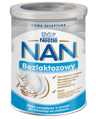Nestle NAN EXPERT Bezlaktozowy mleko początkowe dla niemowląt od urodzenia - 400 g - cena, opinie, właściwości - Drogeria Melissa