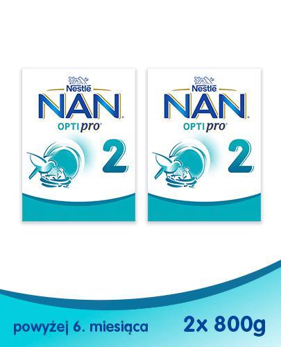 NESTLE NAN OPTIPRO 2 Mleko modyfikowane w proszku po 6 miesiącu - 2 x 800 g