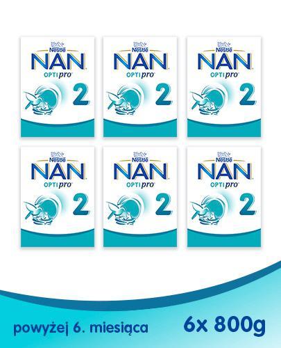 NESTLE NAN OPTIPRO 2 Mleko modyfikowane w proszku po 6 miesiącu - 6 x 800 g