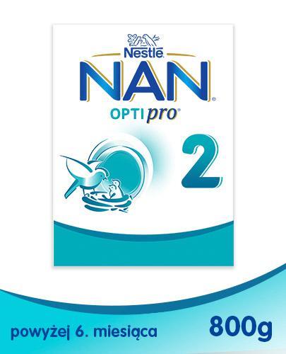 NESTLE NAN OPTIPRO 2 Mleko modyfikowane w proszku po 6 miesiącu - 800 g