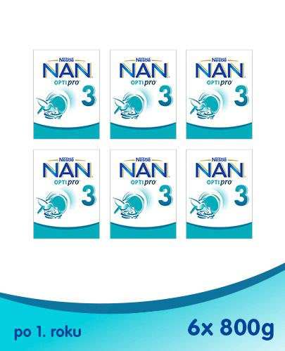 NESTLE NAN OPTIPRO 3 Mleko modyfikowane w proszku po 1 roku - 6 x 800 g