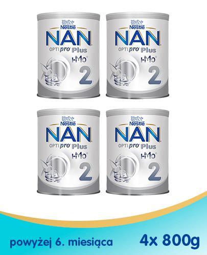 NESTLE NAN OPTIPRO PLUS 2 HM-O Mleko modyfikowane w proszku po 6 miesiącu - 4 x 800 g (puszka)