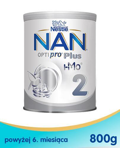 NESTLE NAN OPTIPRO PLUS 2 HM-O Mleko modyfikowane w proszku po 6 miesiącu - 800 g (puszka) - Drogeria Melissa