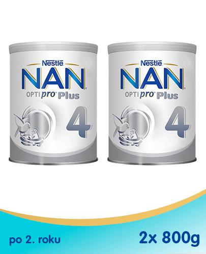Nestle NAN OPTIPRO Plus 4 Mleko modyfikowane junior dla dzieci po 2 roku - 2 x 800 g (puszka)