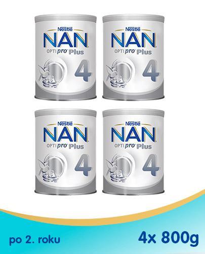 Nestle NAN OPTIPRO Plus 4 Mleko modyfikowane junior dla dzieci po 2 roku- 4 x 800 g
