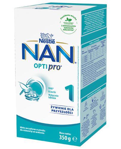 Nestle NAN OPTIPRO 1 Mleko początkowe dla niemowląt od urodzenia - 350 g - Drogeria Melissa