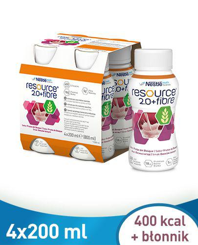 RESOURCE 2.0 FIBRE Smak owoców leśnych - 4 x 200 ml
